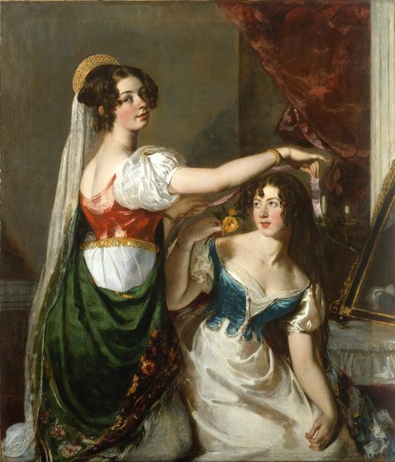 Preparing for a Fancy Dress Ball (Charlotte and Mary William-Wynn)